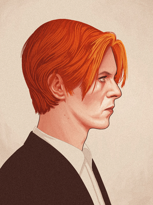 Thomas Jerome Newton (David Bowie) from The Man Who Fell to Earth by Mike Mitchell