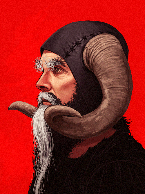 Tim the Enchanter (John Cleese) from Monty Python and the Holy Grail by Mike Mitchell