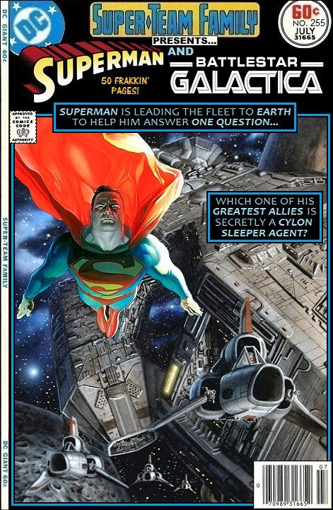 Superman and Battlestar Galactica Team-Up - Comics Crossover