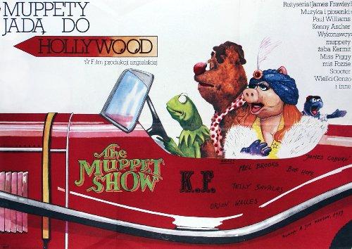Polish Muppet Movie Poster - jim henson, kermit the frog, miss piggy, fozzie bear