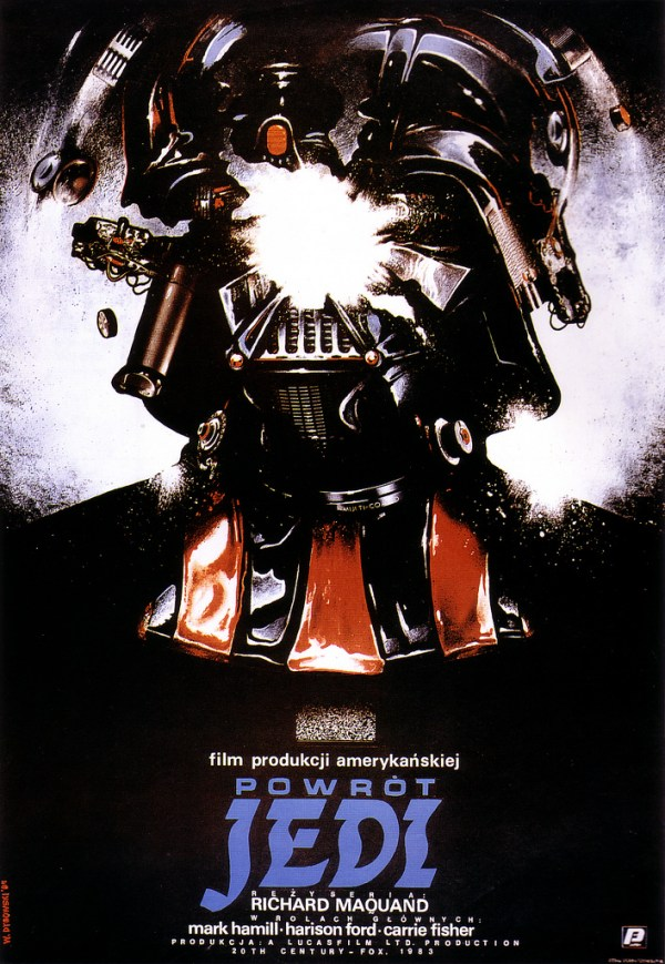 polish star wars return of the jedi poster - darth vader