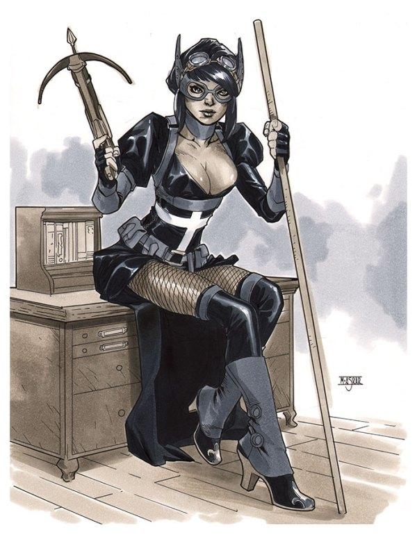 Steampunk Huntress by Mahmud A. Asrar - DC Comics Art