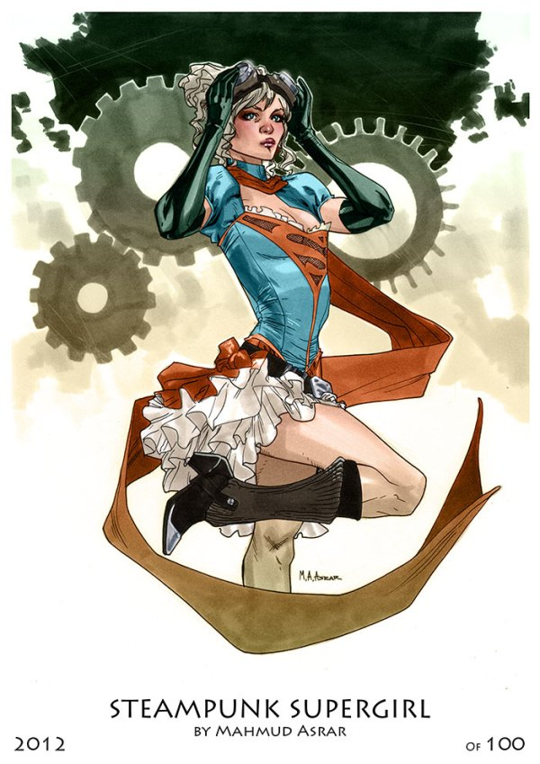 Steampunk Supergirl by Mahmud A. Asrar - DC Comics Art
