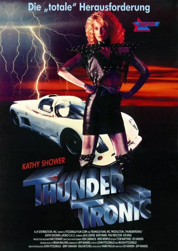 Thunder Tronic (1989) Poster - Starring Kathy Shower - aka Cyber-C.H.I.C., Robo-Chic