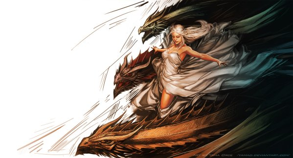 A Dance with Dragons by Yama Orce - Daenerys Targaryen - Game of Thrones Art