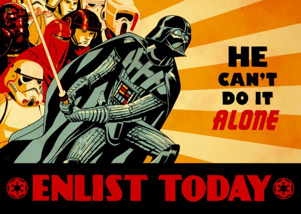 Enlist Today by Cliff Chiang - Darth Vader - star wars art