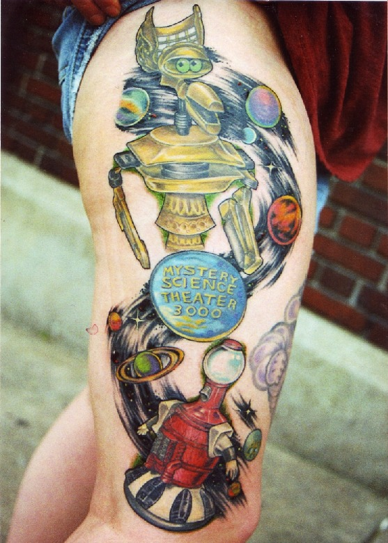 mst3k crow tom servo tattoo - mystery science theater 3000