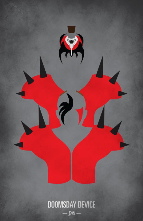 Legion of Doom Minimalist WWF Wrestling Poster