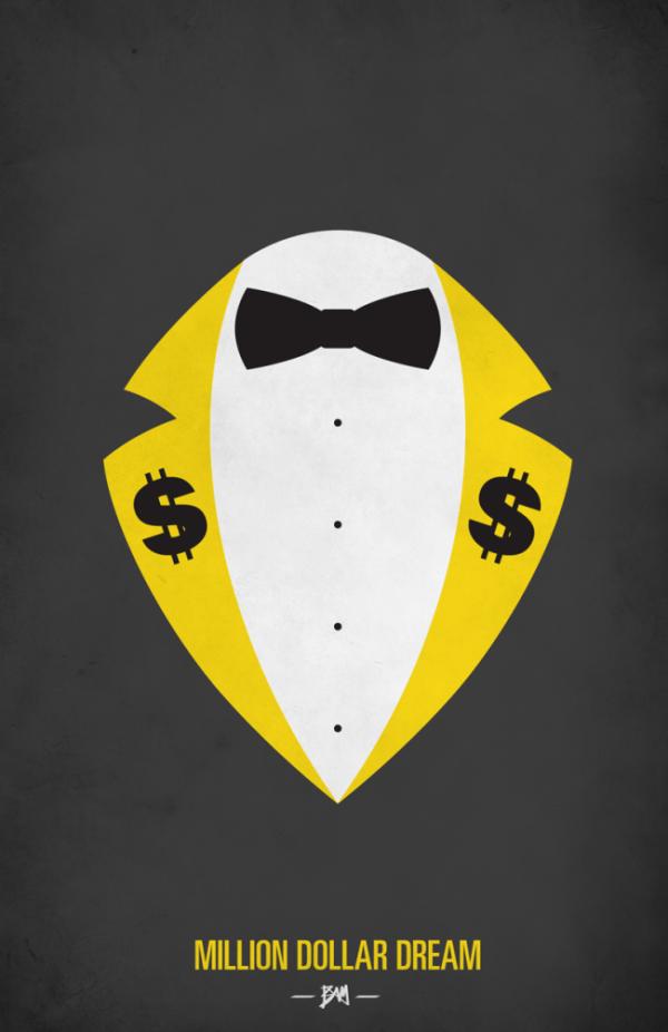 Million Dollar Man Ted Dibiase Minimalist WWF Wrestling Poster