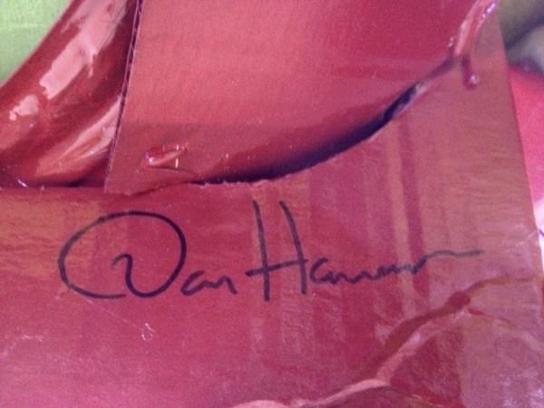 Dan Harmon Iron Man Costume Autograph - Community - Made by Rob Schrab
