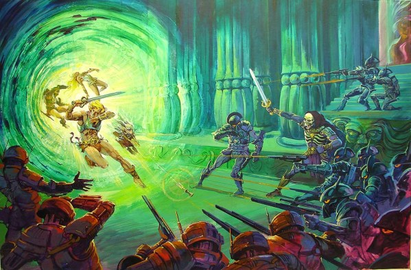 Masters of the Universe Movie Concept Art by Claudio Mazzoli - 1987 - He-Man - Skeletor