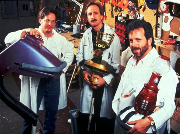 Jim Mallon as Gypsy, Trace Beaulieu as Crow, Kevin Murphy as Tom Servo - MST3K Behind the Scenes