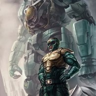 Green Ranger and Dragonzord from Mighty Morphin Power Rangers