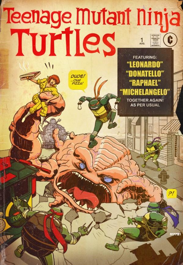 Teenage Mutant Ninja Turtles in Fantastic Four #1 Cover Homage by m7781