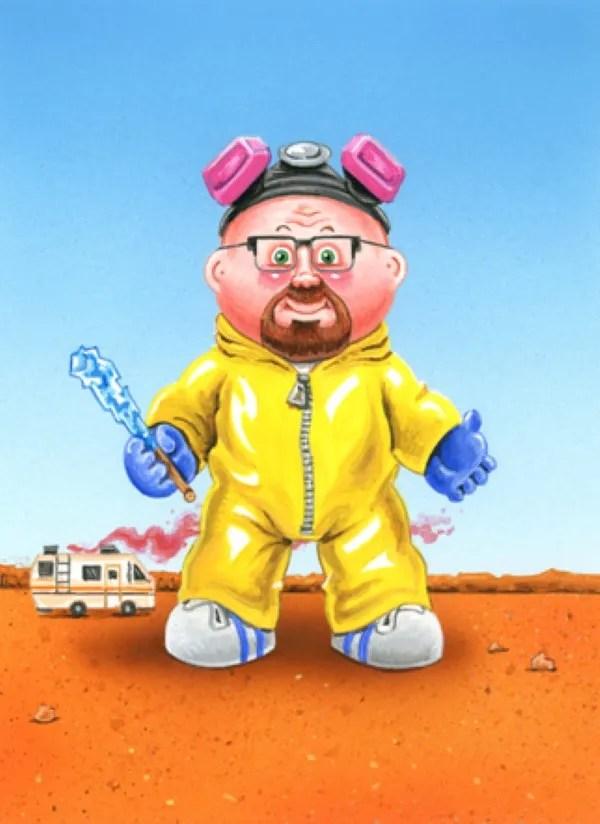 Walter White as a Garbage Pail Kid by Mark Pingatore - Breaking Bad Art
