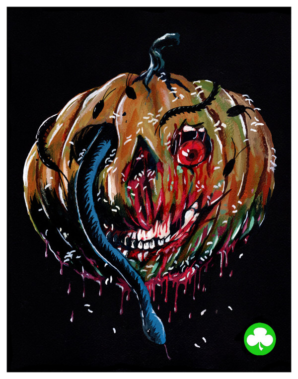Halloween III: Season of the Witch – Silver Shamrock Mask Art