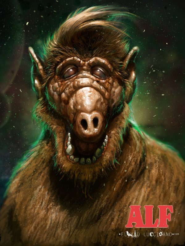 Scary ALF Art by Flavio Luccisano