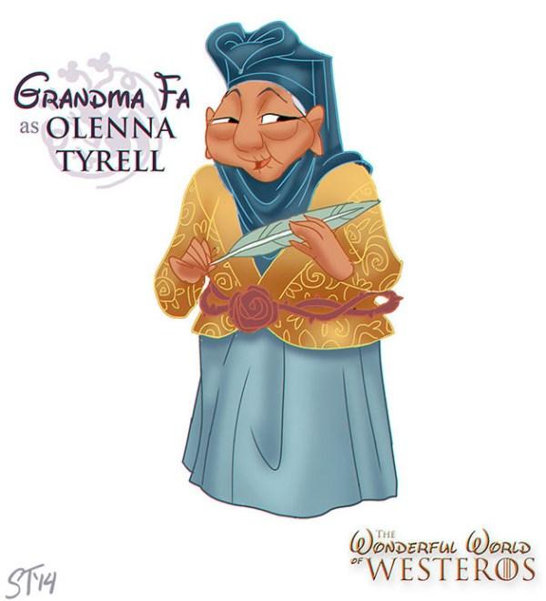 Grandma Fa (Mulan) as Olenna Tyrell - Disney Princesses x Game of Thrones