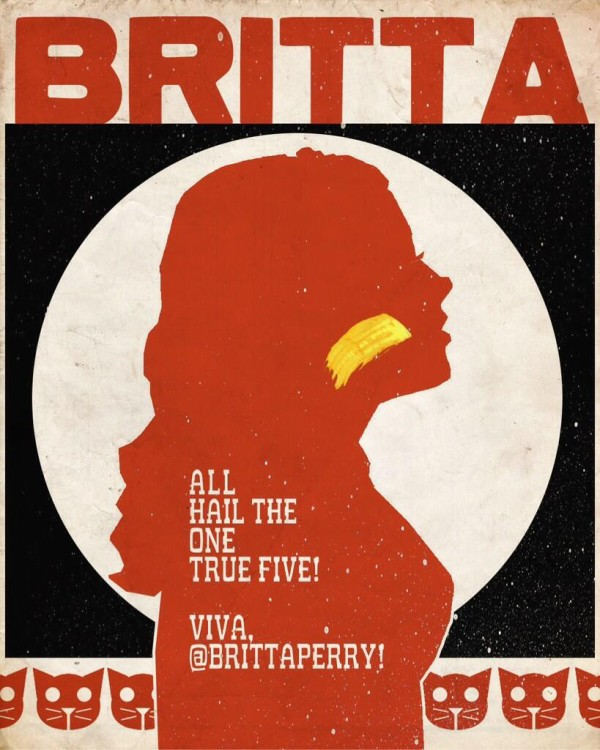All Hail The One True Five - Viva Britta Perry - Community Poster by Rob Schrab
