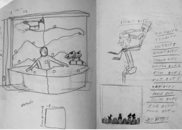 Joel Hodgson MST3K Pitch Drawings - Mystery Science Theater 3000