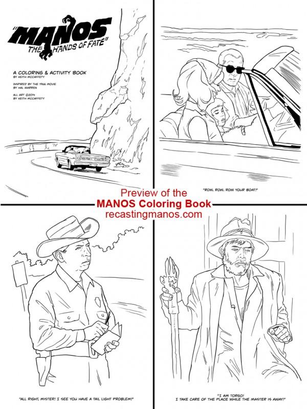 Manos Coloring Book Preview 1