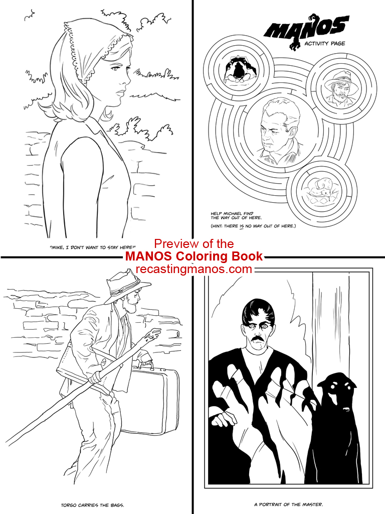 manos the hands of fate coloring book