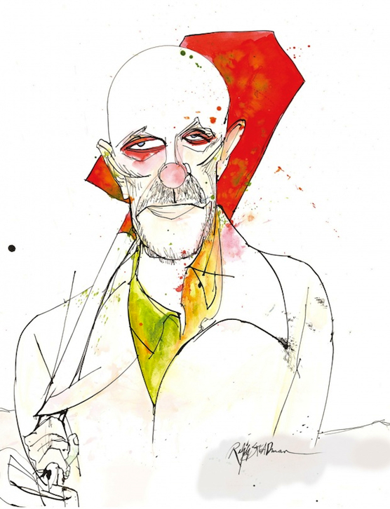 Mike Ehrmantraut by Ralph Steadman - Breaking Bad Blu-ray Cover