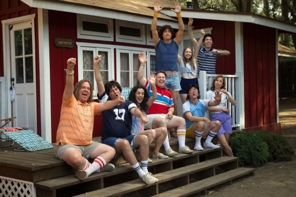 Camp Counsellors including Zak Orth, Michael Showalter, Ken Marino, Joe Lo Truglio and Nina Hellman - Wet Hot American Summer First Day of Camp