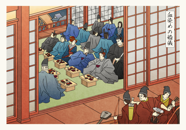 Wedding Banquet by the River - Game of Thrones Japanese Woodblock