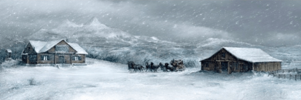 Snow Scene from Quentin Tarantino's The Hateful Eight