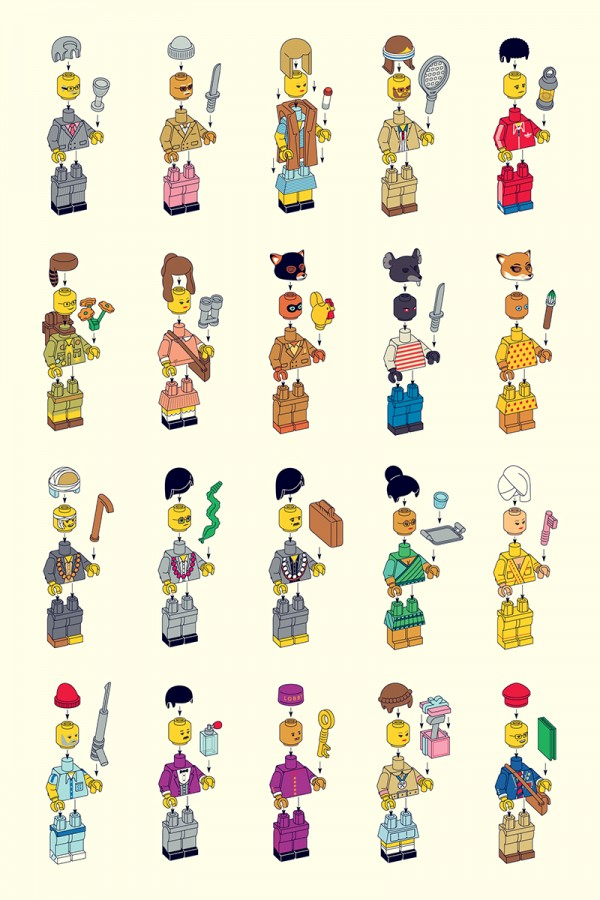 LEGO Wes Anderson Characters by Matt Chase