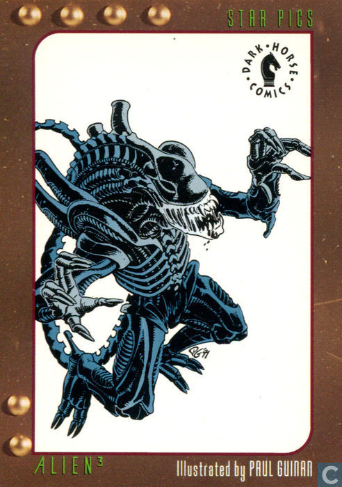 Alien 3 Card Illustrated by Paul Guinan - Dark Horse Comics