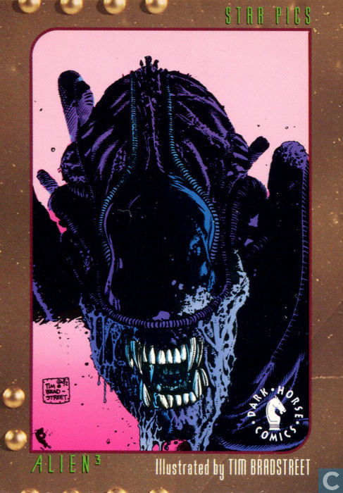 Alien 3 Card Illustrated by Tim Bradstreet - Dark Horse Comics