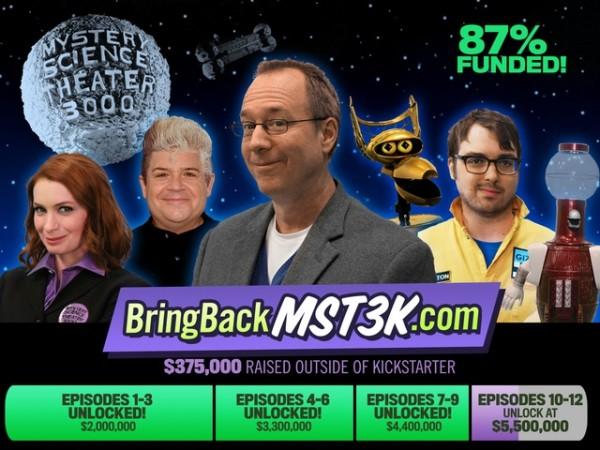 MST3K Reboot Kickstarter - Felicia Day, Jonah Ray, Patton Oswalt