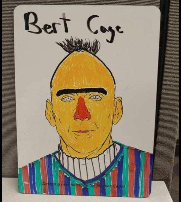 Bert Cage - Nicolas Cage as Bert from Sesame Street