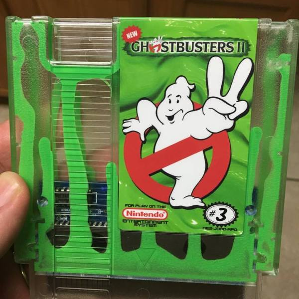 Ghostbusters II Green Slime Nintendo Cartridge