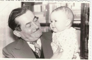 My grandfather and I in 1977