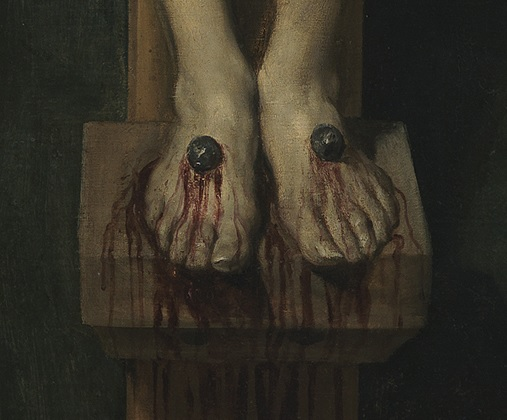 Diego Velázquez, Christ Crucified (circa 1632, detail) – Wikipedia