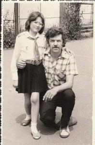 My father, Georgel Aramă, and I (1987)