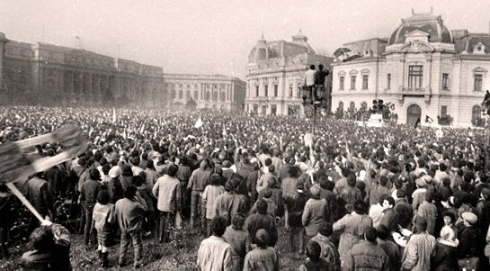 Central Committee Square, Bucharest, December 1989