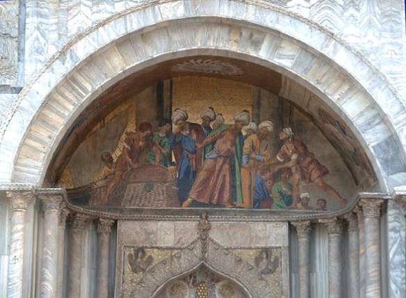 Stealing St. Mark's Body, Mosaic, Venice