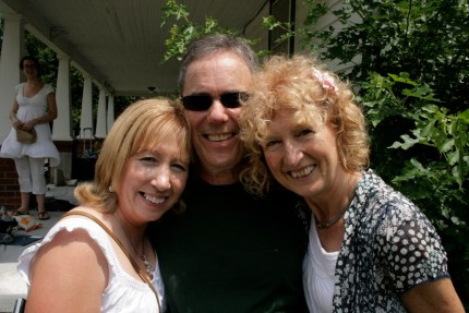 Catherine McEvoy, Seamus Connolly, Mary Bergin The porch of the Weldon House, East Durham, New York, during the 2008 Catskills Irish Arts Week Taken by Roxanne O'Connell (researcher) on July 17, 2008.
