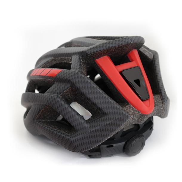 casco pattinaggio regolabile retro rosso nero - roxa