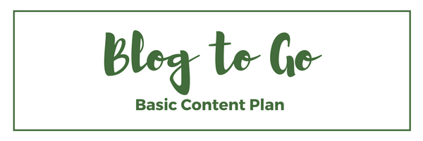 Blog to Go Basic Content Plan