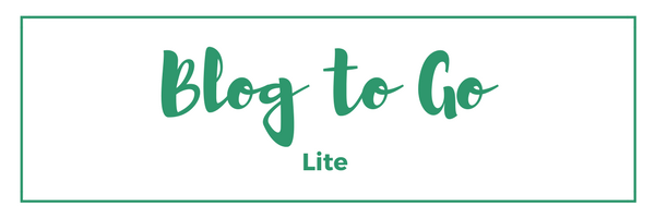 Blog to Go Lite Content Plan