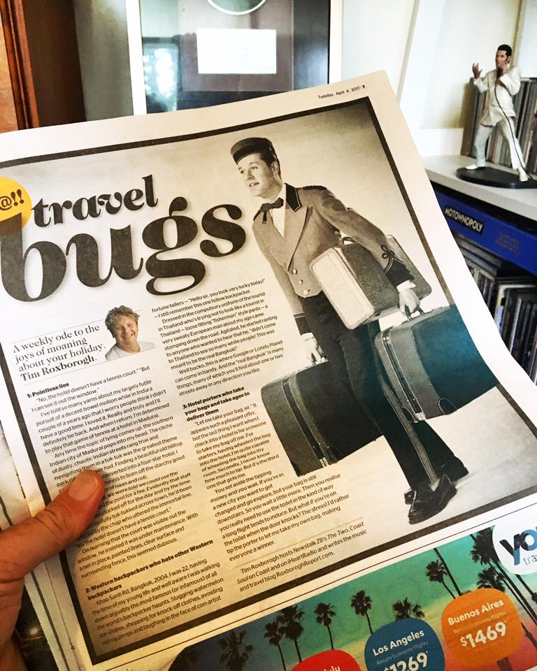 Travel Bugs - My Weekly NZ Herald Column About The Joys Of Moaning About Your Holiday