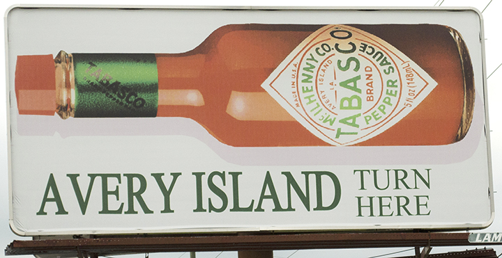 Avery Island sign, a must stop in Cajun Country