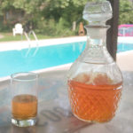peach brandy at Crochet House, Cajun Country headquarters