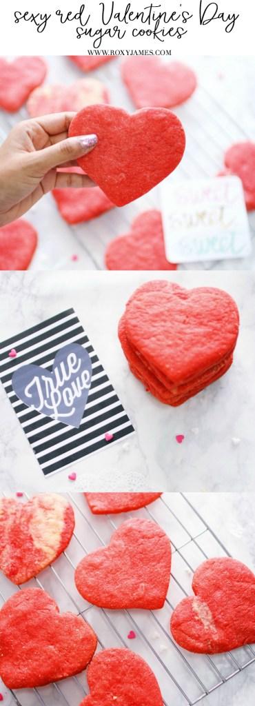 Sexy Red Valentine's Day Sugar Cookies
