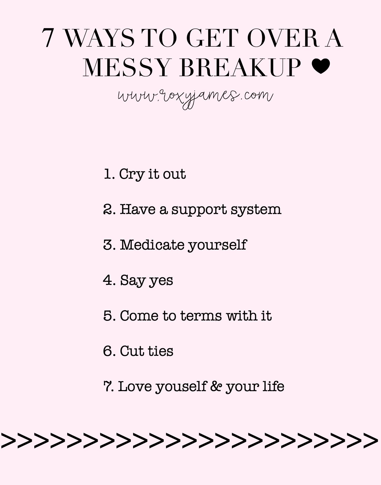 ways to get over a breakup